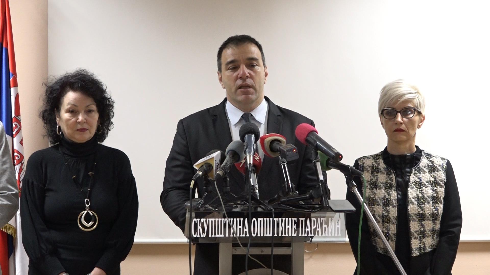 Novogodišnja KZN predsednika opštine Paraćin Saše Paunovića