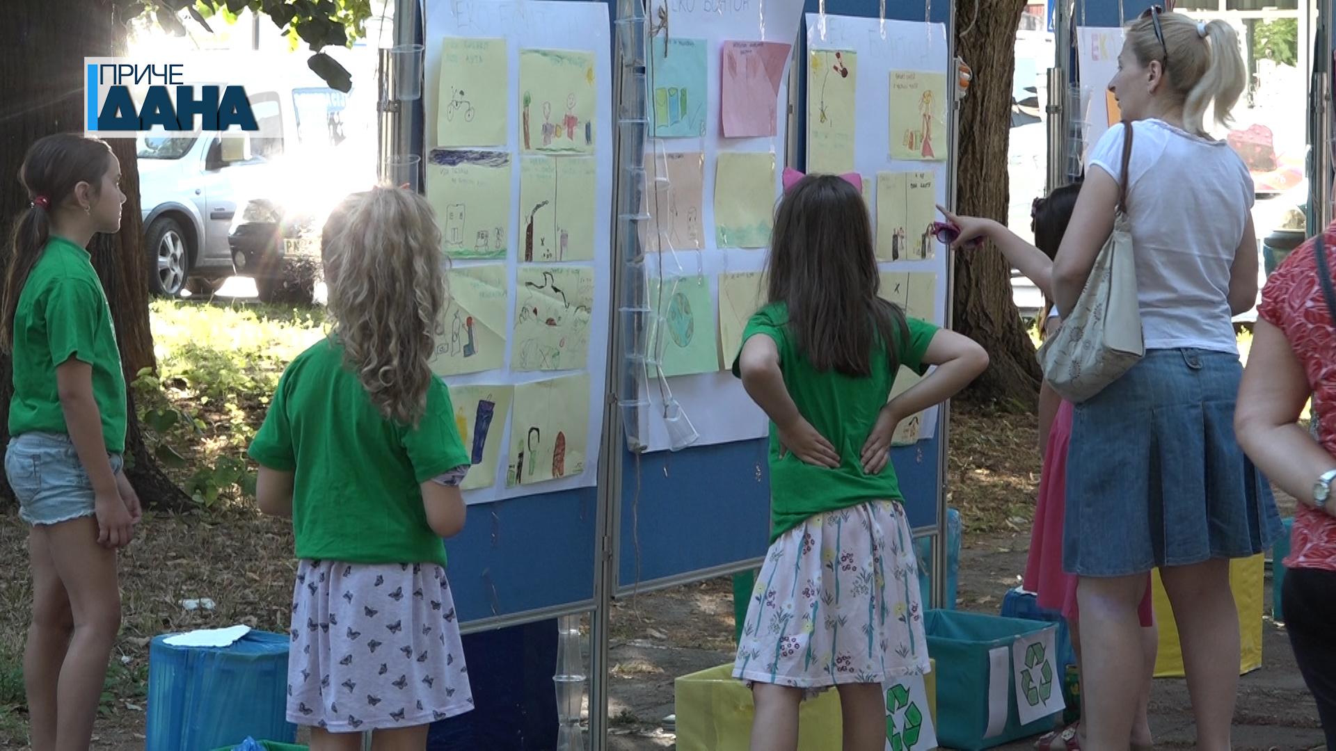 """Izložba dečijih radova nastalih u okviru projekta """"Moj eko vrtić"""""""