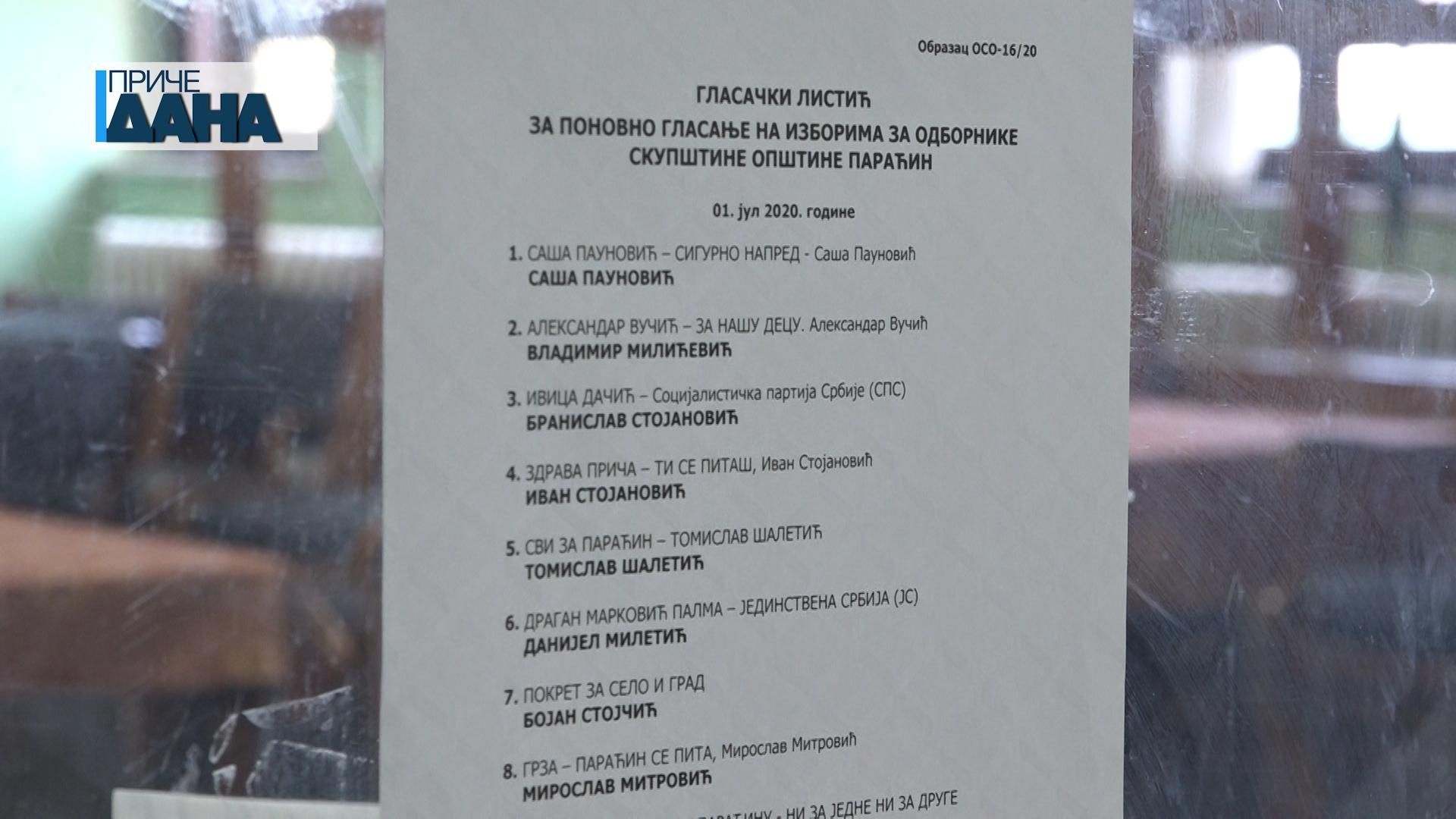 I dalje bez konačnih rezultata izbora u Paraćinu