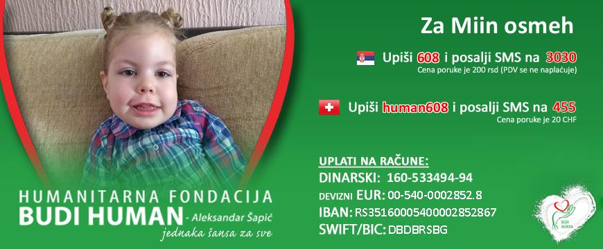 Miu Žikić od operacije deli još 4.000 evra