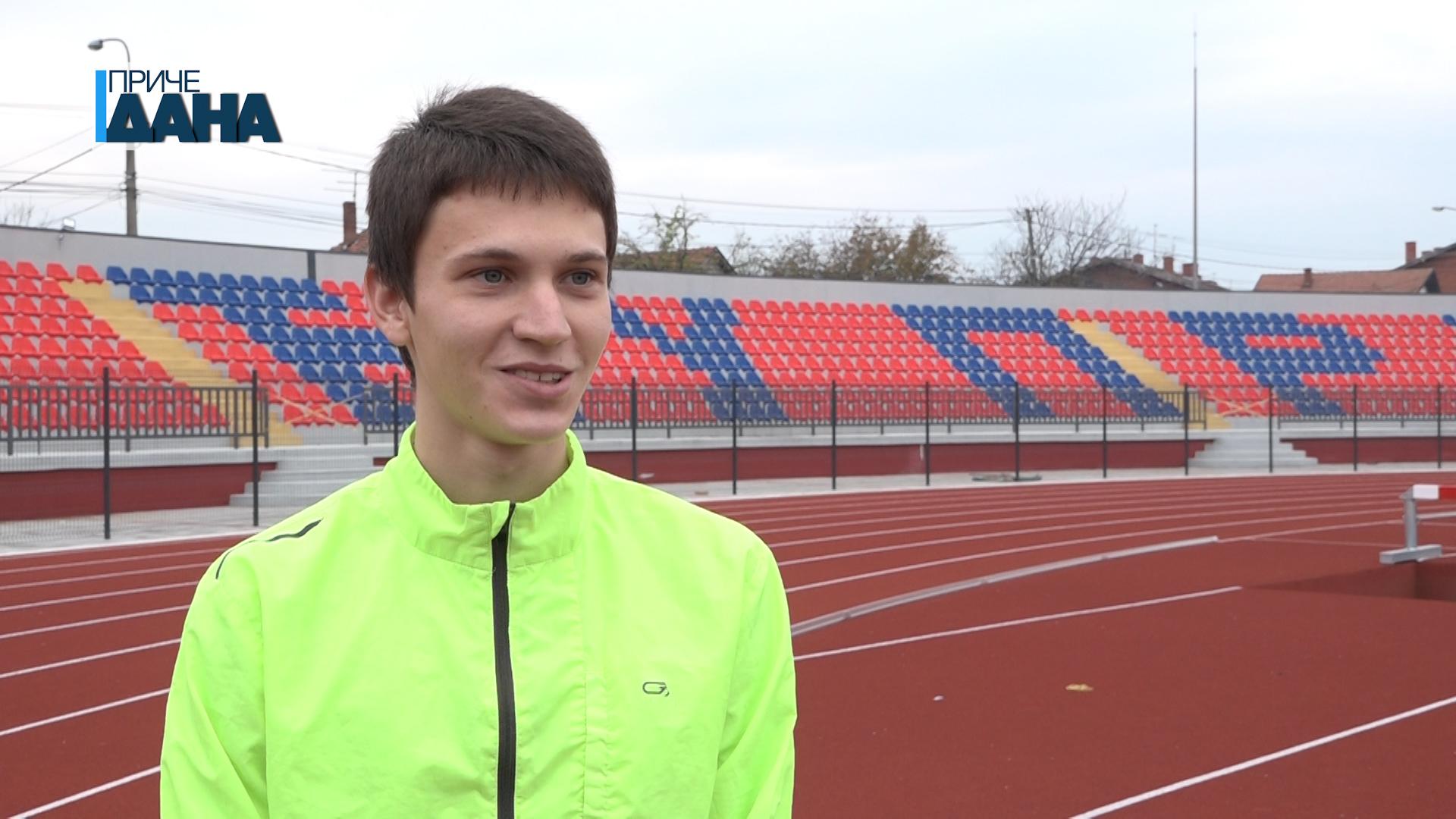 Aleksa Milanović član OAK Morava, velika nada ćuprijske atletike