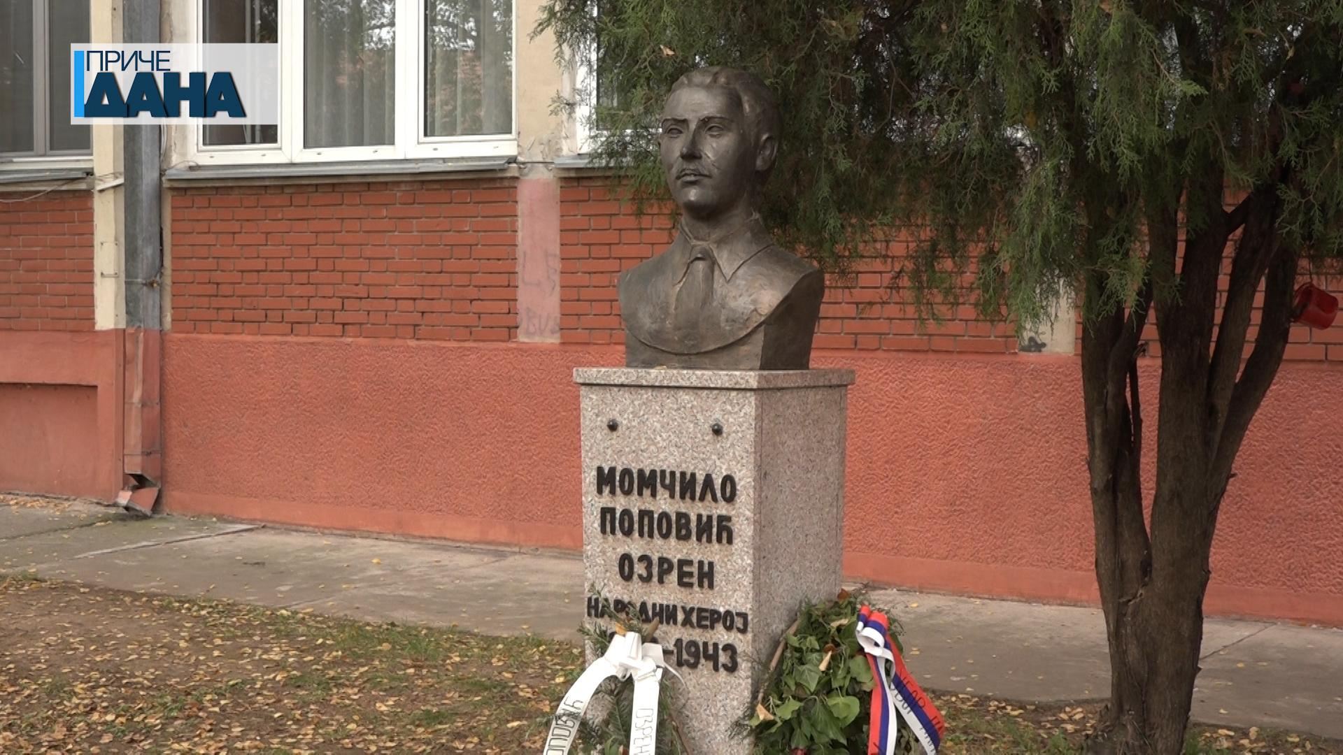 Bista Momčila Popovića Ozrena u istoimenoj osnovnoj školi u Paraćinu
