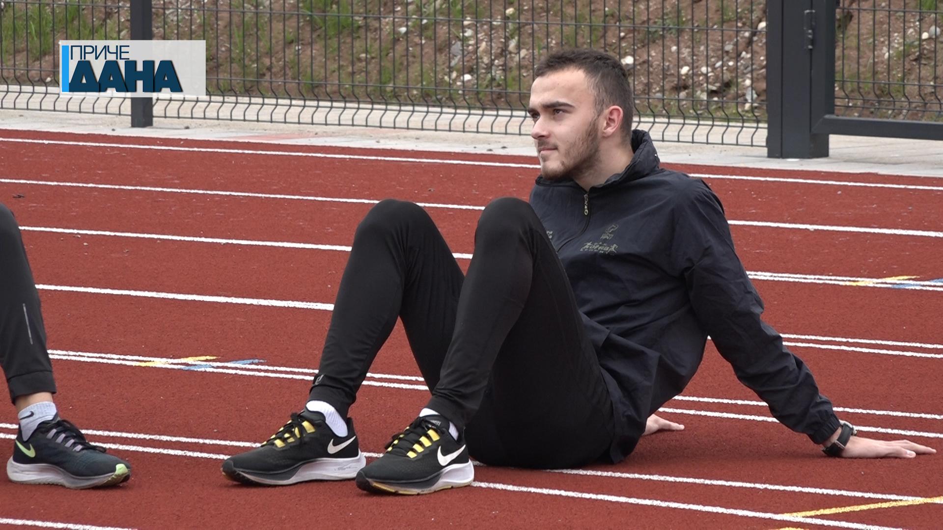 Srećko Milanović član OAK Morava, dvoranski prvak Srbije na 400 metara