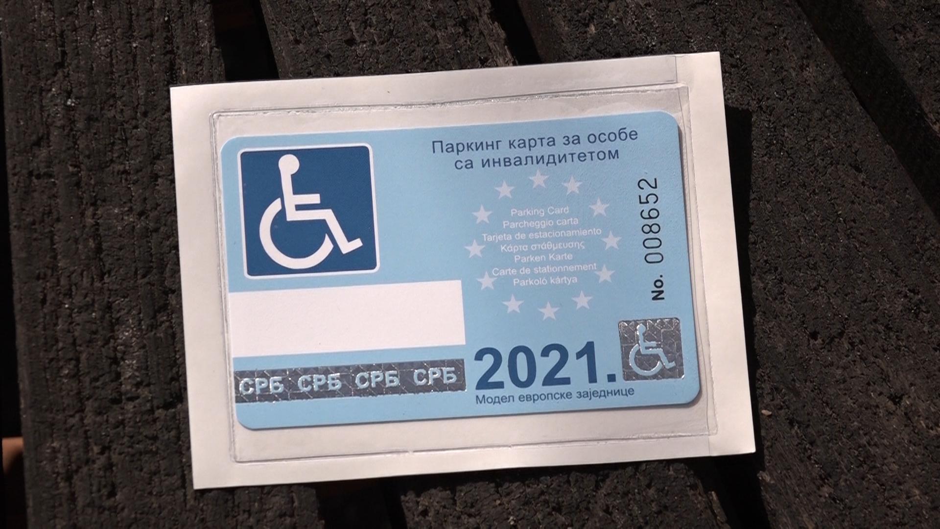 Izdavanje parking kartica osobama sa invaliditetom
