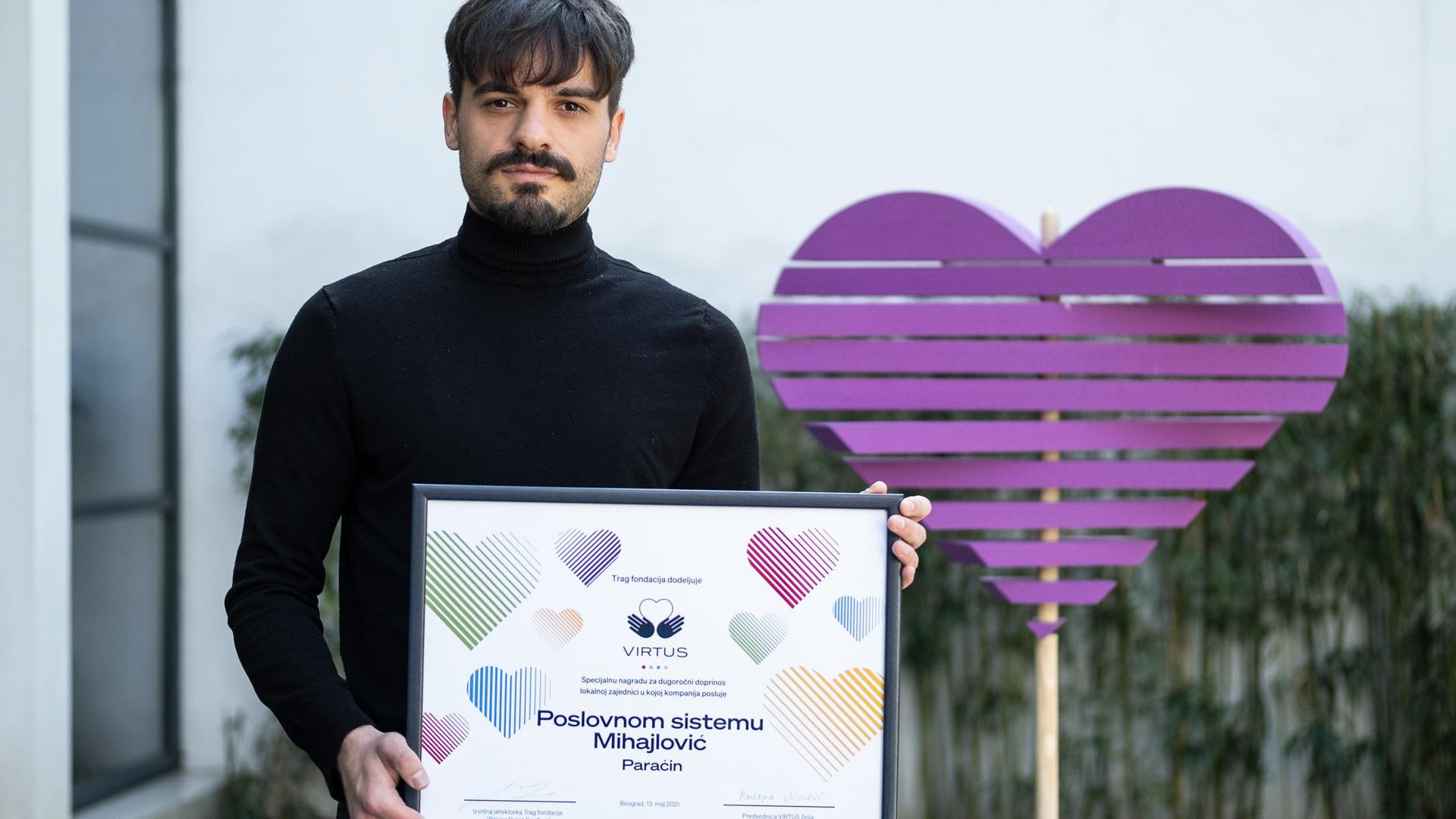 Poslovni sistem Mihajlović dobitnik nagrade Fondacije TRAG za filantropiju