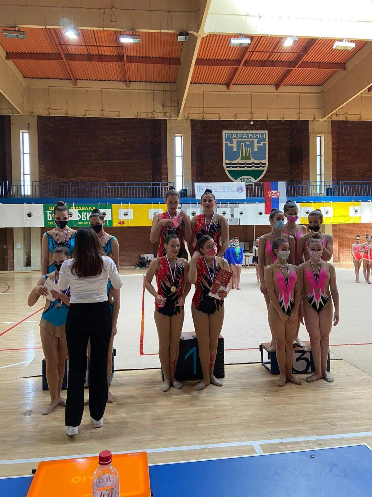 Uspeh GK Paraćin na Prvenstvu Srbije u ritmičkoj gimnastici