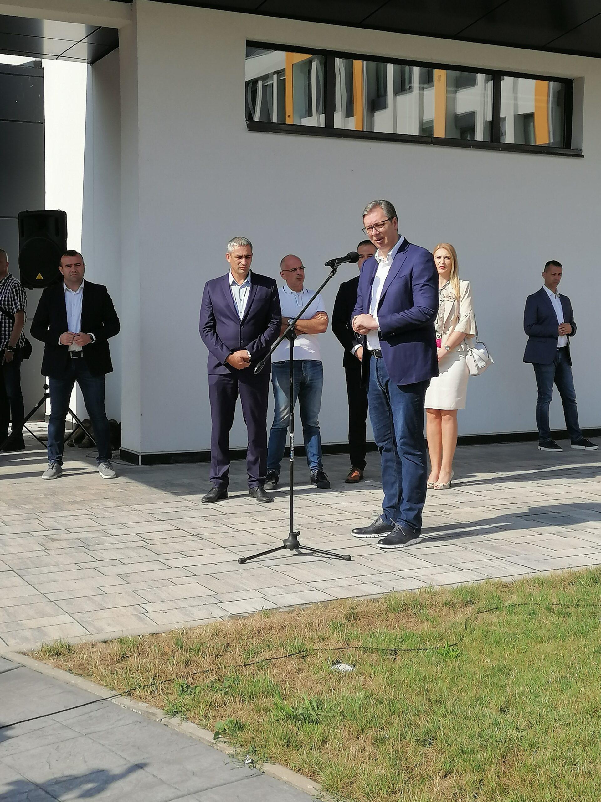 Predsednik Srbije Aleksandar Vučić danas u poseti Pomoravskom okrugu