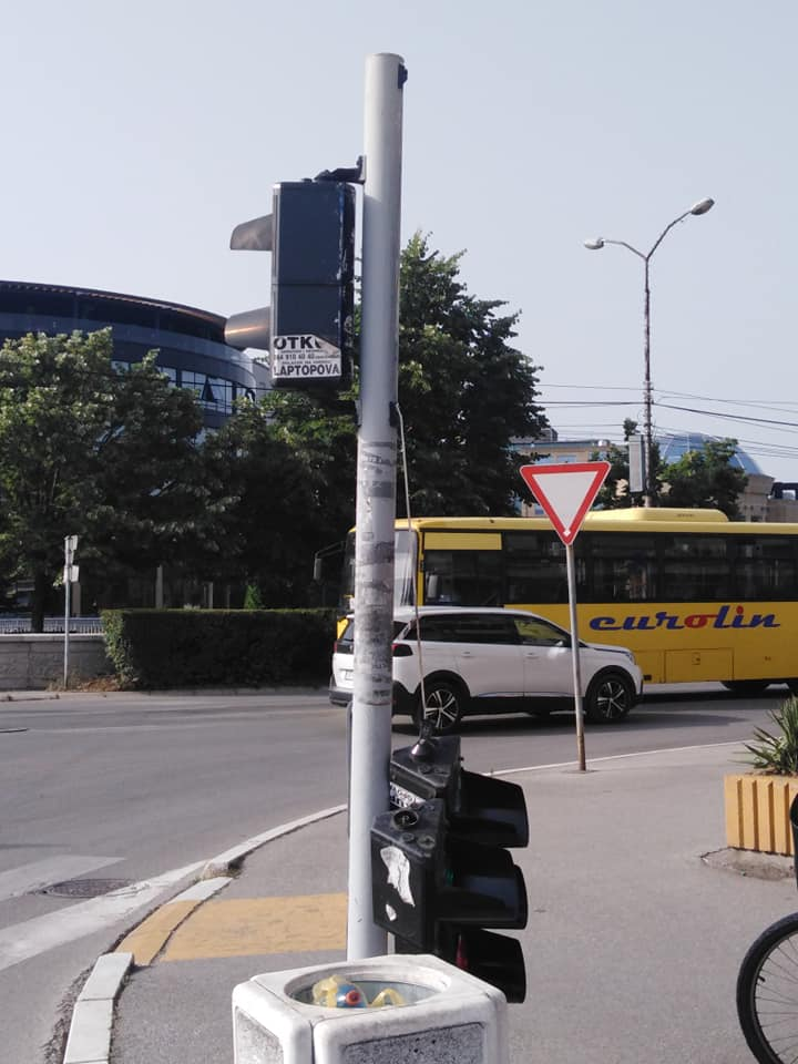 Semafor u centru Paraćina u kvaru