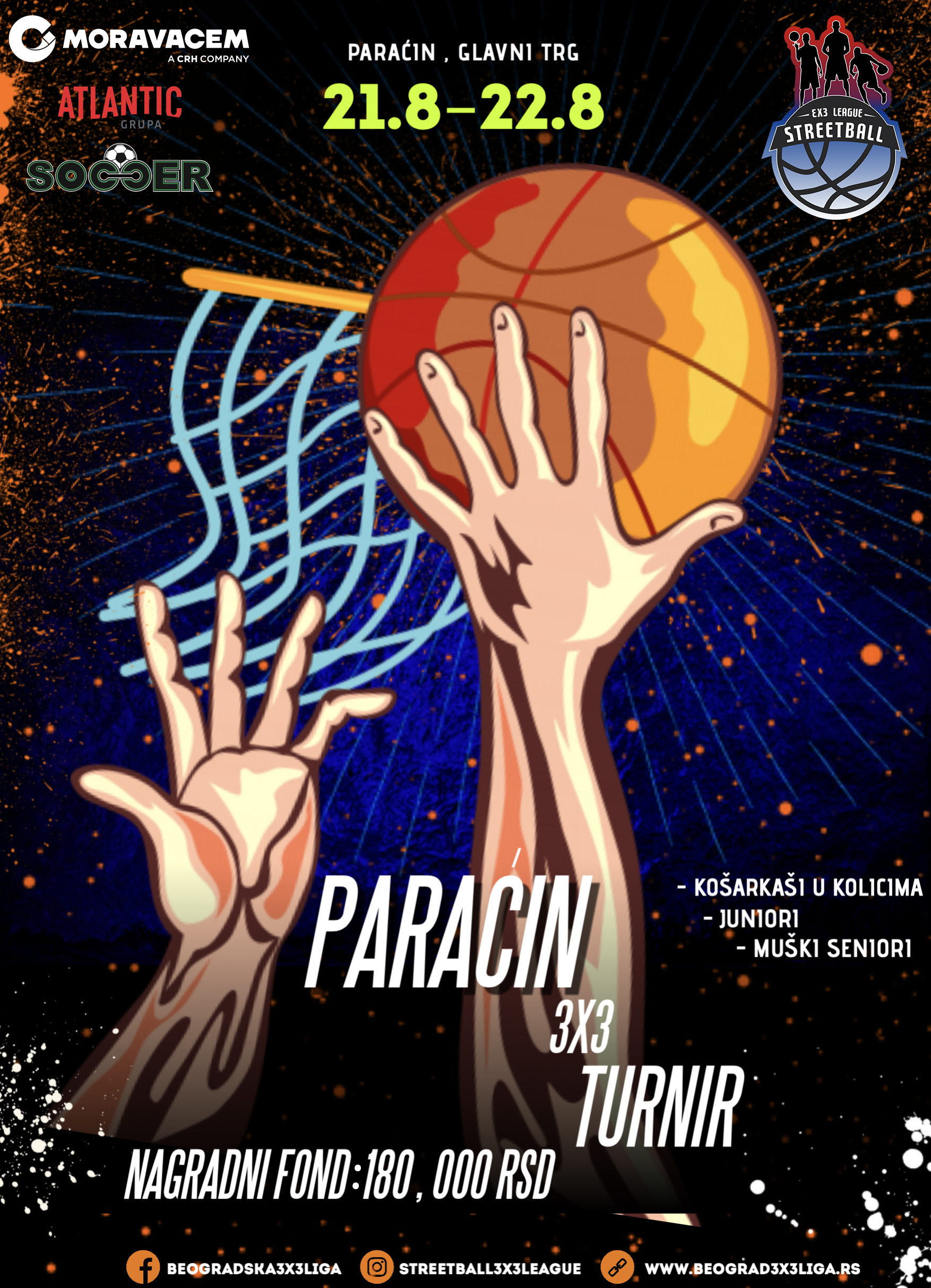 Ovog vikenda u centru Paraćina turnir 3X3 u basketu