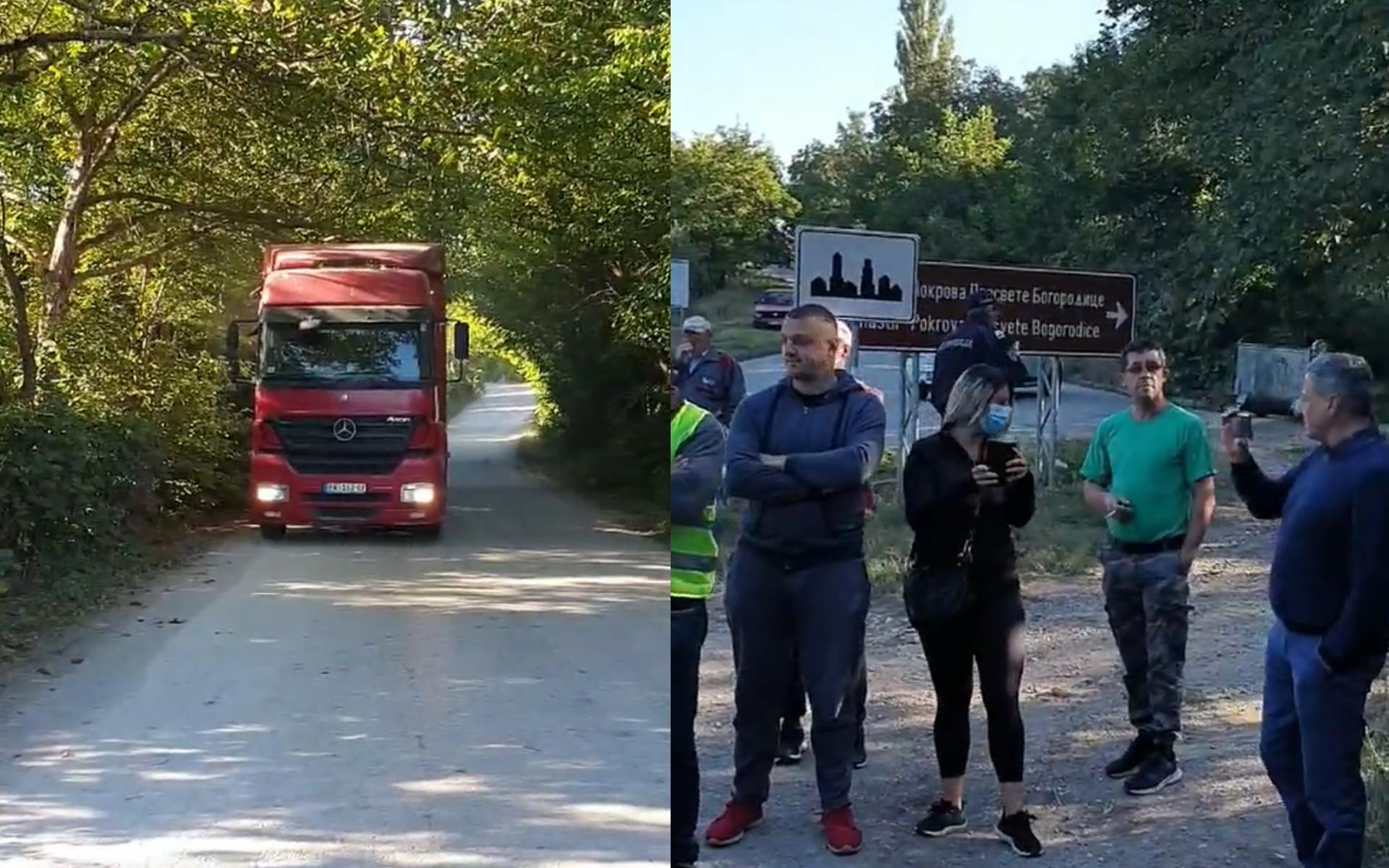 """Aktivisti Udruženja """"Odbranimo planinu Babu"""" blokirali put i zaustavili transport krečnjaka"""