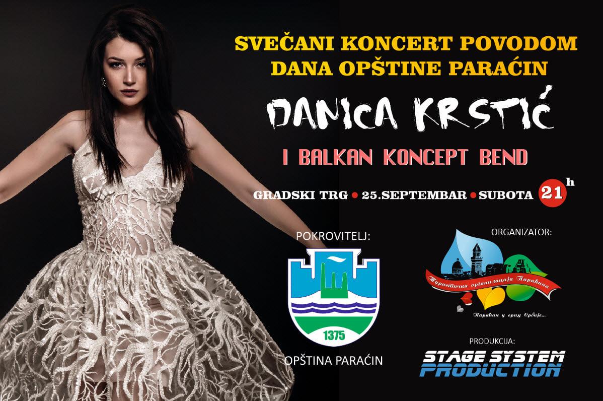 Iako je bilo neizvesno, Koncert Danice Krstić ipak u centru Paraćina povodom Dana opštine